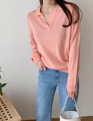 Mond knee color knit C031805